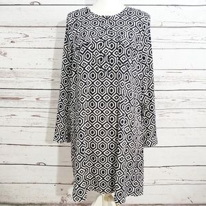 Gap geometric print shirt dress nwt